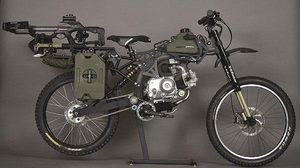 """motoped1 12 08 14 - Bicicletta motorizzata da """"sopravvivenza"""""""