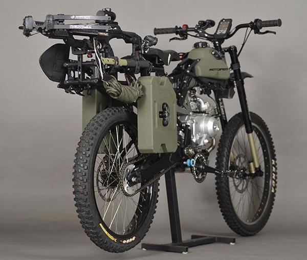 """motoped2 12 08 14 - Bicicletta motorizzata da """"sopravvivenza"""""""