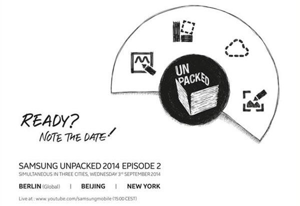 samsungnote2 07 08 14 - Samsung Galaxy Note 4 svelato il 3 settembre