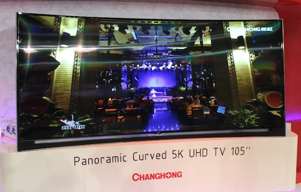 "changhong 3 11 09 2014 - Changhong: TV 105"" 5K e OLED Ultra HD curvo"