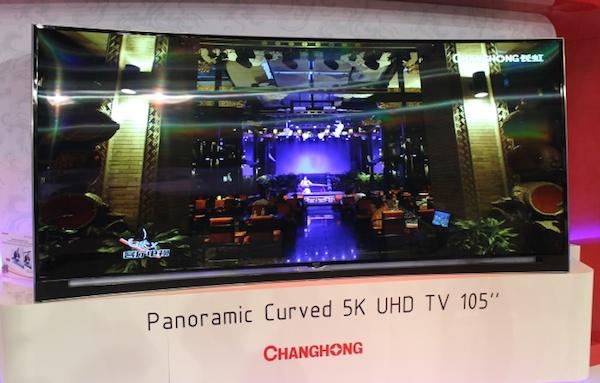 """changhong 3 11 09 2014 - Changhong: TV 105"""" 5K e OLED Ultra HD curvo"""