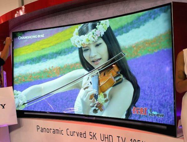 """changhong 5 11 09 20141 - Changhong: TV 105"""" 5K e OLED Ultra HD curvo"""