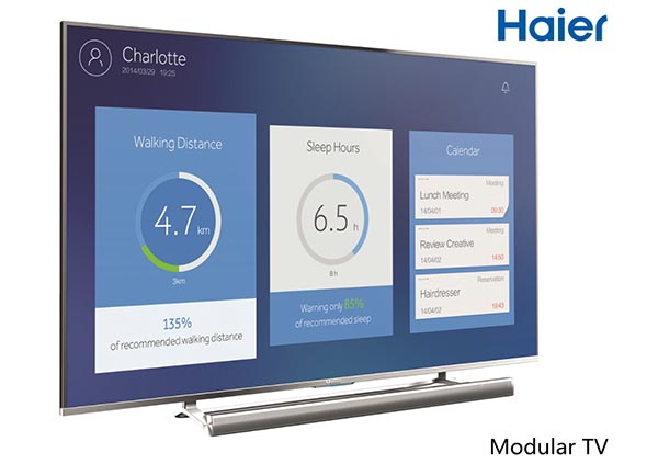 haier 6 04 09 2014 - Haier: TV UHD, OLED, modulari e proiettore LED