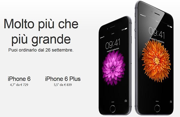 iphone6 2 10 09 14 - iPhone 6 e 6 Plus in Italia il 26 settembre da 729€