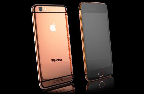 iphone6gold2 19 09 14 - iPhone 6 e 6 Plus in oro 24 kt e Swarovski