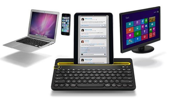 logitech1 08 09 14 - Logitech K480: tastiera con dock smartphone e tablet