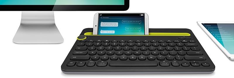 logitech4 08 09 14 - Logitech K480: tastiera con dock smartphone e tablet