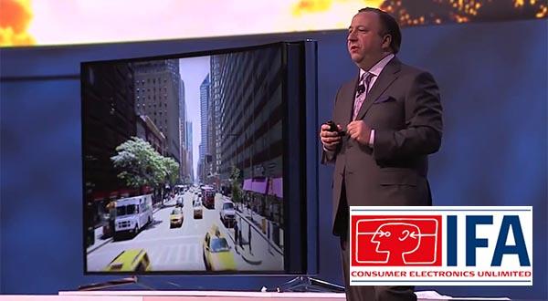 "samsung 01 09 2014 - Samsung: TV UHD 105"" con curvatura regolabile"