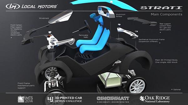 strati4 22 09 14 - Strati: la prima automobile stampata in 3D