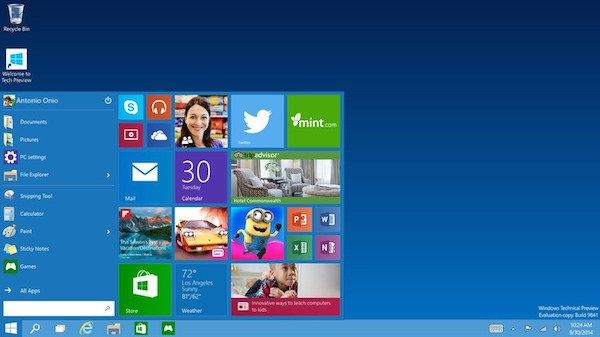 "windows 10 2 30 09 2014 - Windows 10: il nuovo OS ""unico"" di Microsoft"