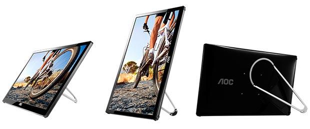 """aoc1 16 10 14 - AOC E1759FWU: monitor 17"""" portatile USB 3.0"""
