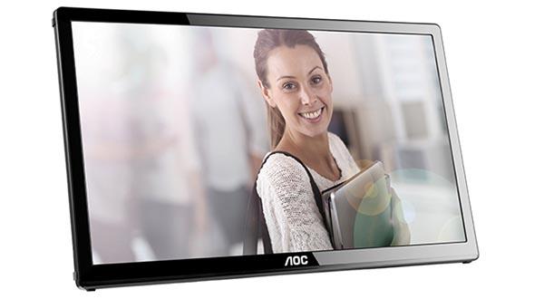 """aoc evi 16 10 14 - AOC E1759FWU: monitor 17"""" portatile USB 3.0"""