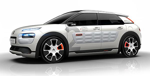 """citroen 06 10 2014 - Citroën: l'auto ad """"aria"""" fa 50km con 1 litro"""