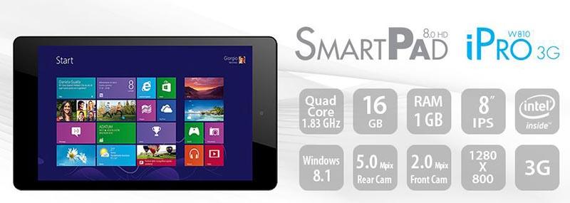 mediacom1 01 10 14 - Mediacom SmartPad 8.0 HD: tablet Windows 8.1