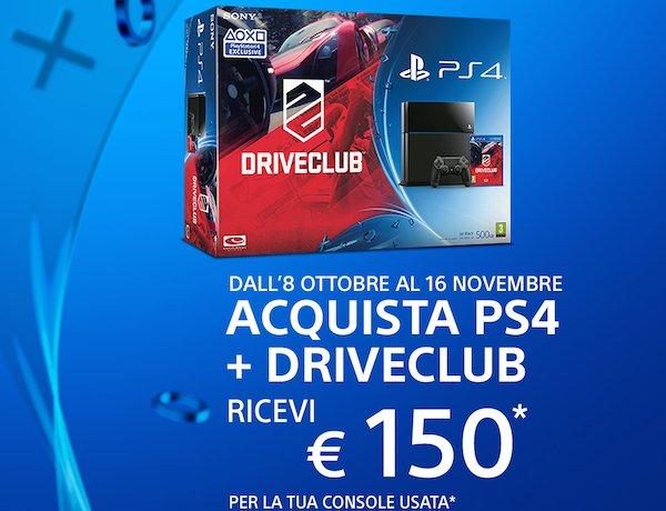 ps4 07 10 2014 - Promozione PS4: 150€ di valutazione sull'usato