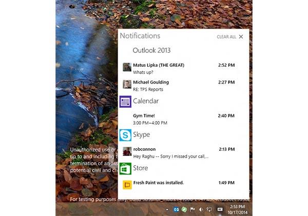 win10 2 22 10 14 - Windows 10 con centro notifiche