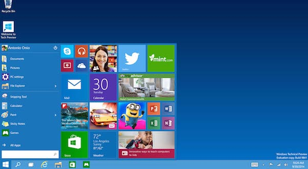 windows 10 02 10 2014 - Windows 10: disponibile la Technical Preview