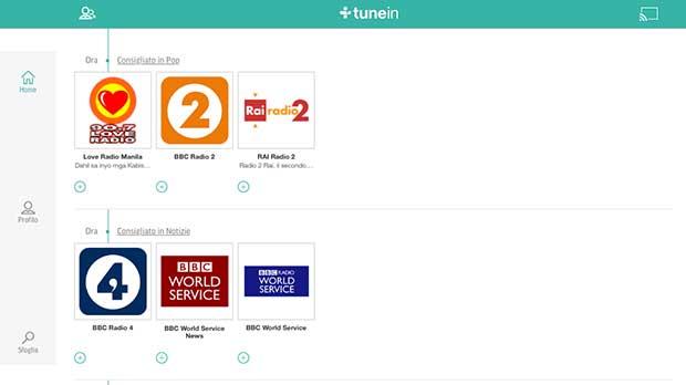 tunein2 26 11 14 - App TuneIn compatibile Chromecast