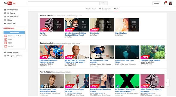 youtube 13 11 2014 - YouTube Music Key: VOD musicale a pagamento