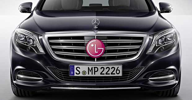 lgmercedes2 29 12 14 - Mercedes e LG: partnership per le auto del futuro