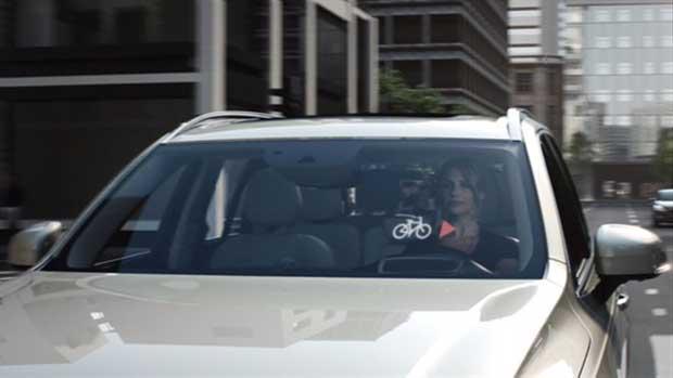 """volvo2 22 12 14 - Sicurezza ciclisti: auto e casco """"si parlano"""""""