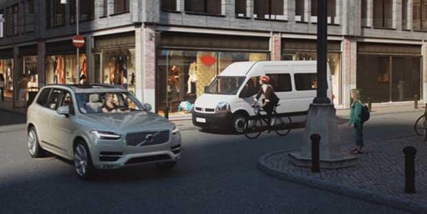 """volvo3 22 12 14 - Sicurezza ciclisti: auto e casco """"si parlano"""""""