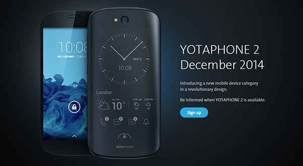 yotaphone2 evi 03 12 2014 - YotaPhone 2: smartphone con doppio schermo