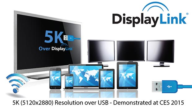 displaylink 08 01 2015 - DisplayLink veicola video 5K tramite un cavo USB