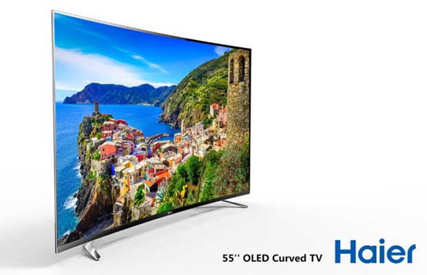 "haier2 05 01 15 - Haier: TV LCD curvo 105"", OLED 55"" e Modular TV"
