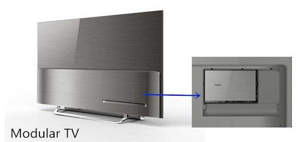 "haier4 05 01 15 - Haier: TV LCD curvo 105"", OLED 55"" e Modular TV"