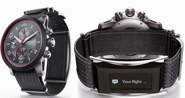 montblanc evi 02 01 14 - Orologi Montblanc: modulo Smartwatch e-Strap