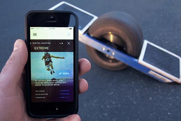 onewheel 3 16 01 2015 - Onewheel: skateboard elettrico con app mobile