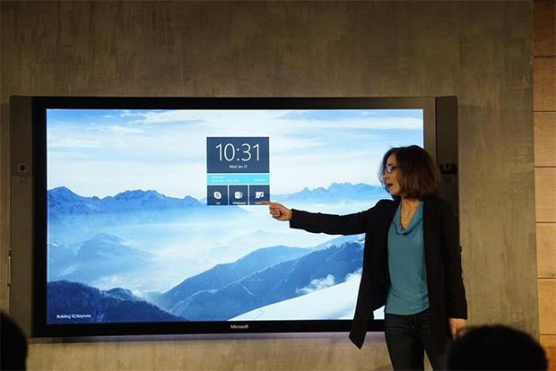"surface hub 21 01 2015 - Microsoft Surface Hub: display touch 84"" 4K"