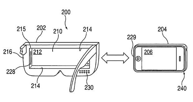 applevisore1 18 02 15 - Apple: brevetto visore VR per iPhone