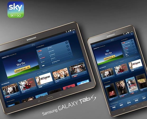 galaxy tab 02 01 2015 - SkyGo disponibile su Galaxy Tab S
