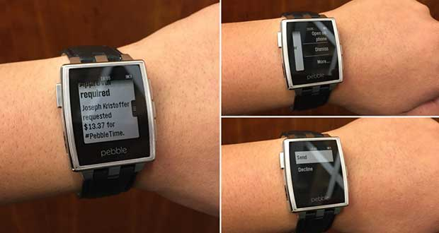 pebble1 17 02 15 - Pebble Smartwatch con notifiche Android Wear