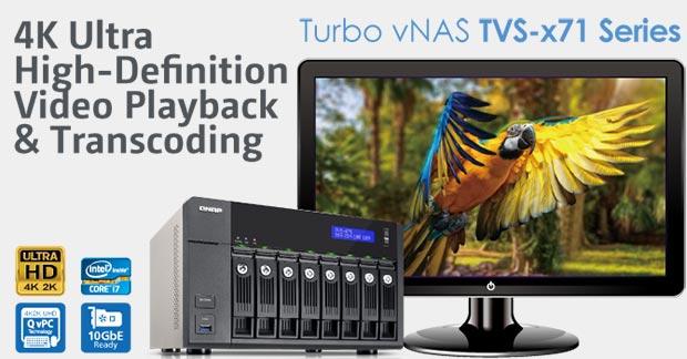 qnap 10 02 2015 - QNAP TVS-x71: NAS con transcodifica in 4K