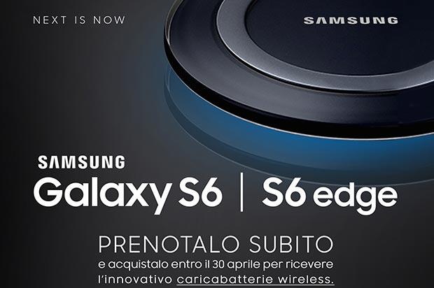 samsung s6 13 03 2015 - Galaxy S6 e S6 Edge: caricabatterie wireless per i preordini