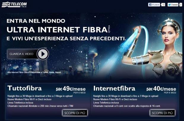 telecom 10 03 2015 - Telecom Superfibra: fino a 50Mbps da aprile