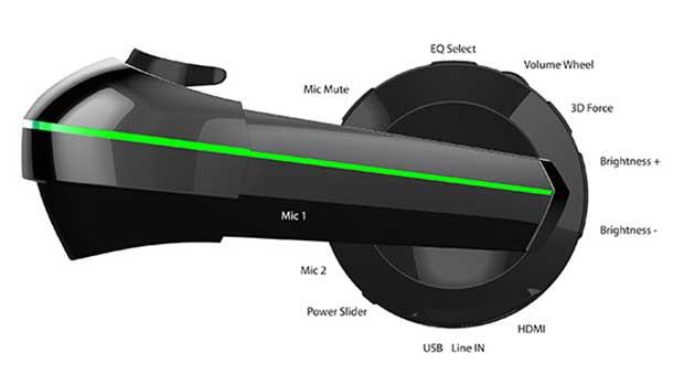 """vuzix2 06 03 15 - Vuzix IWear 720: visore VR """"multi-device"""""""