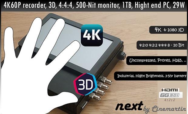 next 07 04 2015 - Cinemartin Next: recorder portatile 4K da 995€