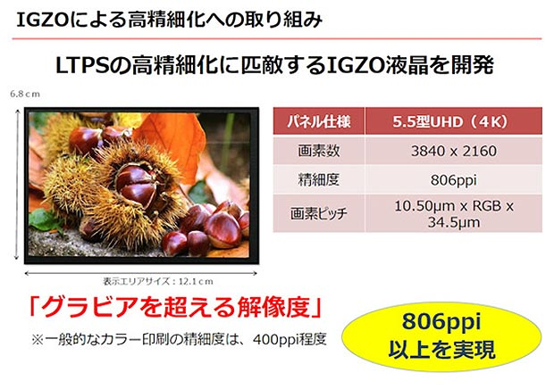 sharp igzo 4 smartphone 2 13 04 2015 - Sharp: display UHD IGZO per smartphone con 806ppi