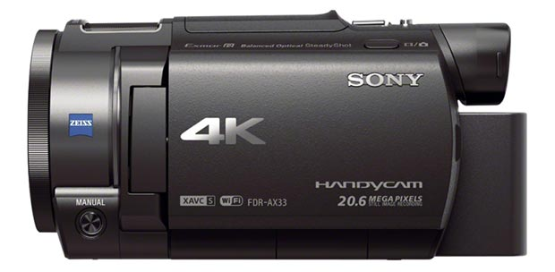 sony fdrax33 2 20 04 2015 - Sony FDR-AX33: videocamera con video UHD a 100Mbps