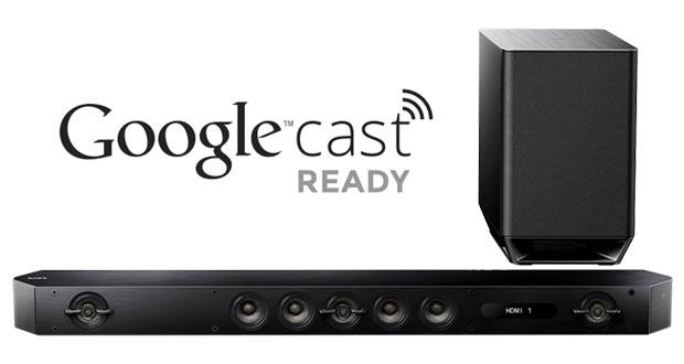 sonycast1 22 04 15 - Sony: soundbar e sinto-ampli HT con Google Cast