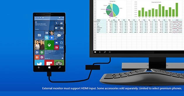 windows 10 continuum 29 04 2015 - Windows 10 Continuum: lo smartphone diventa un mini-PC