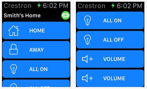 crestronapp2 27 05 15 - Crestron: App Apple Watch per Smart Home