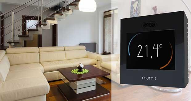 momit evi 14 05 15 - Momit: termostato intelligente con touch-screen