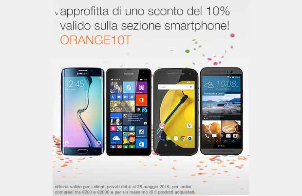 orange1 13 05 15 - Orange: sconto del 10% sugli smartphone oltre i 200 €