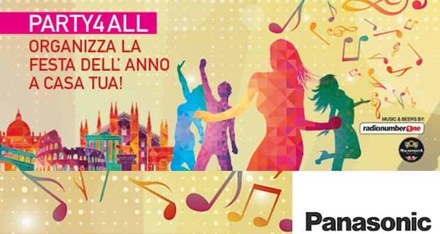 panasonic all promozione 11 05 2015 - Panasonic PARTY4ALL: in palio prodotti multiroom ALL