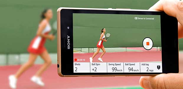 smarttennis2 14 05 15 - Sony Smart Tennis: sensore per analizzare le vostre partite